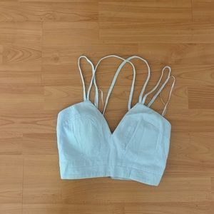 LF blue cropped top